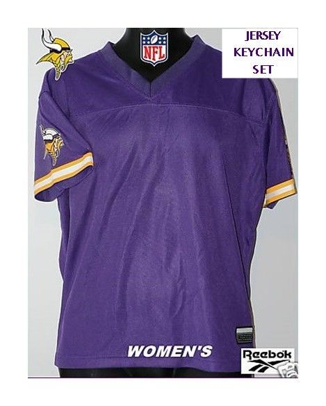 982547bfc MINNESOTA VIKINGS WOMEN S SCREENED REEBOK FOREVER JERSEY KEYCHAIN NFL FAN  SET L  NFLTEAM  MinnesotaVikings