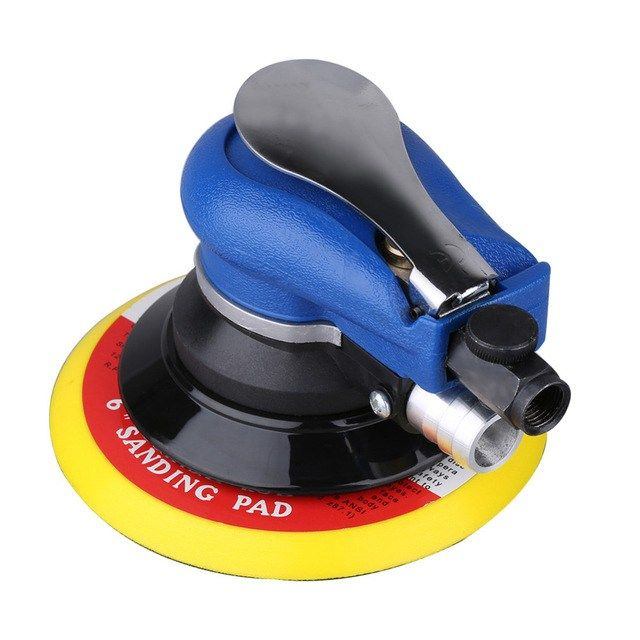 Practical Air Sander Random Orbital Palm Sander 6 150mm Pad Pneumatic Tool Polisher Dust Collec Dust Collection Hose Dust Collection Best Random Orbital Sander