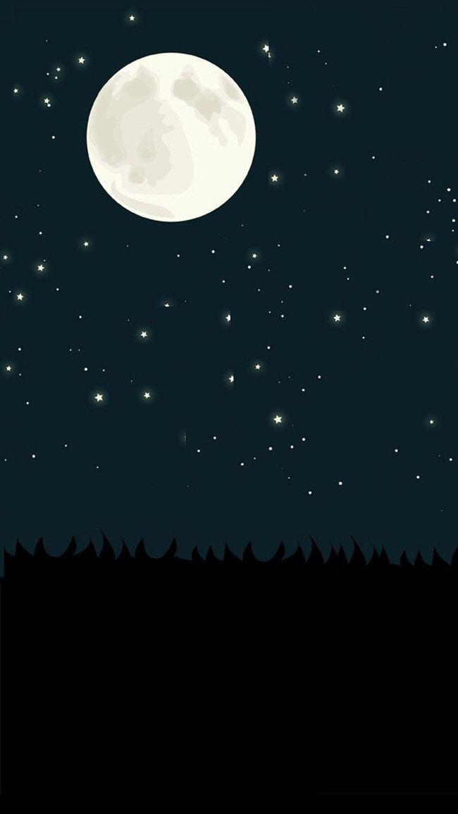 Wallpaper Bulan Dan Bintang