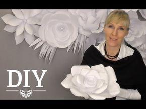 DIY: Große Papierblüten-Wand aus Kopierpapier selber machen   Deko Kitchen - YouTube
