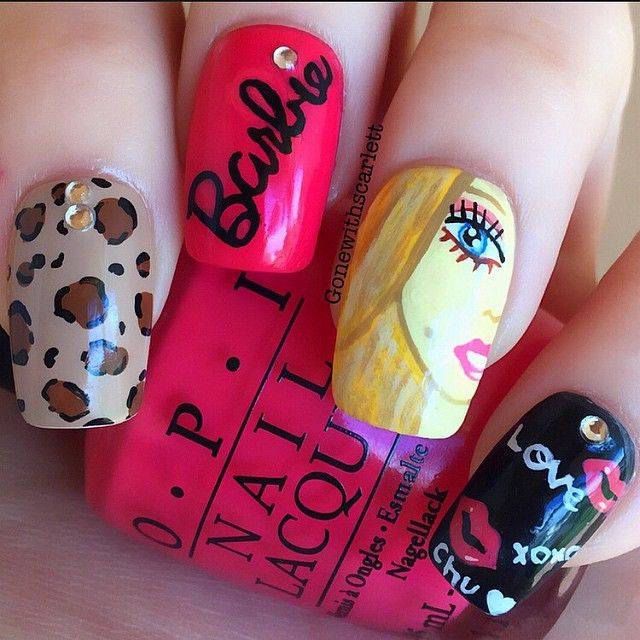 Instagram media gonewithscarlett - barbie #nail #nails #nailart