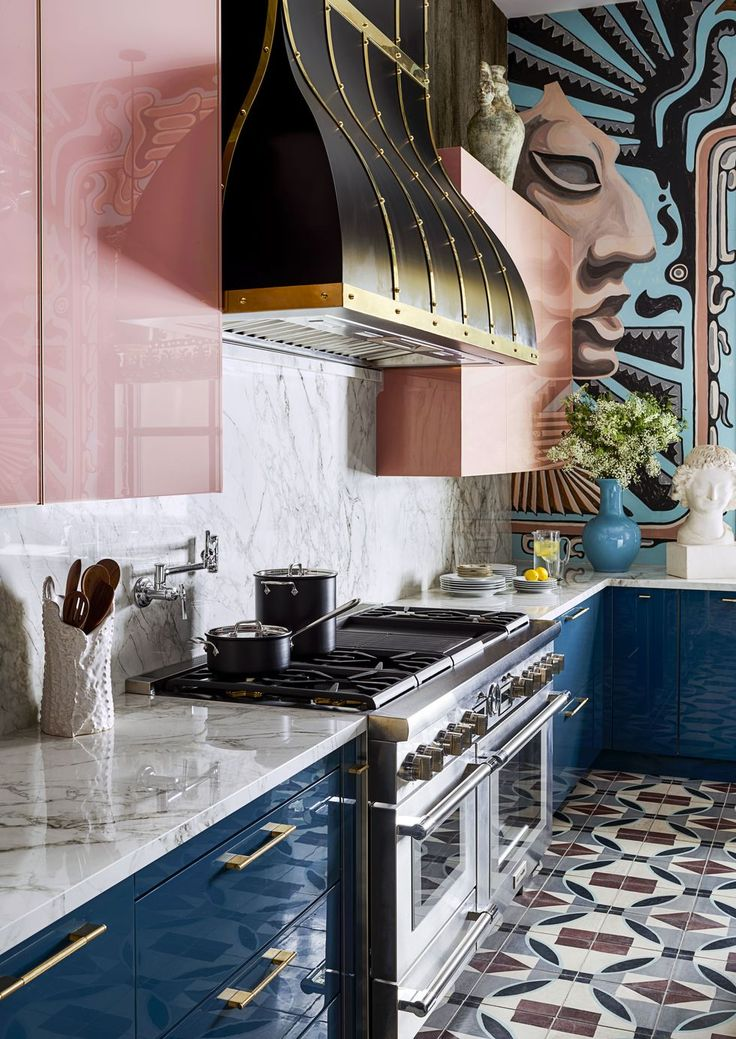 There Are 4 Insanely Cool Kitchens—and a Pink Pantry Full