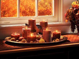 Beautiful autumn centerpiece using Perfect Pillars™