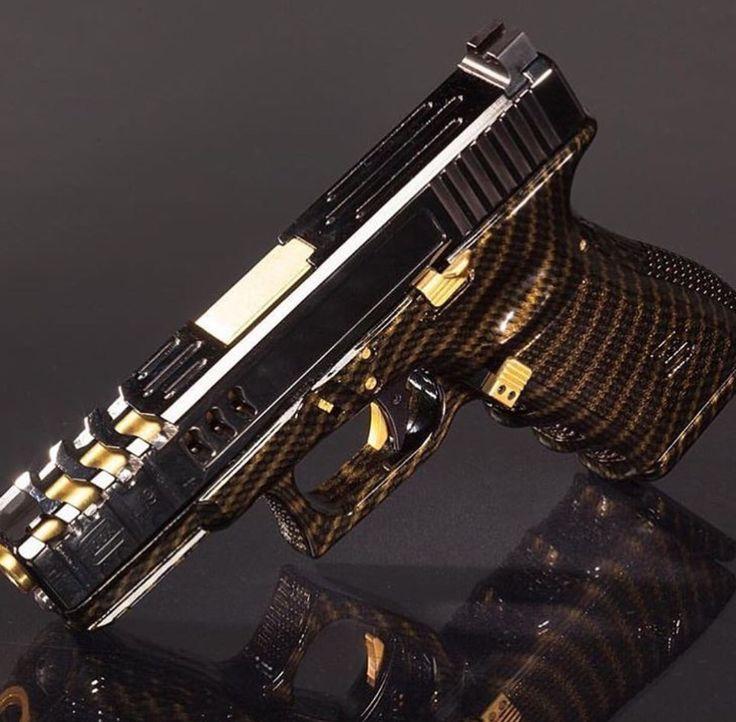 Gold & Black carbon fiber Glock