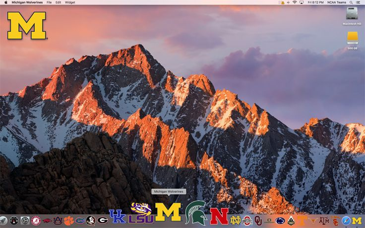 FRONT of the 2017 Michigan Wolverines Football Schedule Mac App on your desktop  http://2thumbzmac.com/teamPages/Michigan_Wolverines.htm