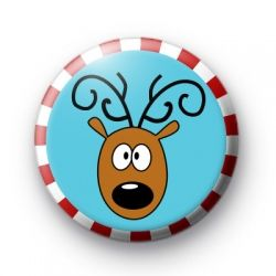 Reindeer Candy Cane Xmas Badge Christmas Badges button badges