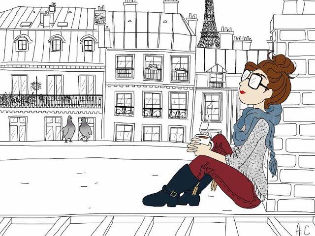 La Fille aux Lèvres Rouges: Sur les Toits de Paris (coffee time)