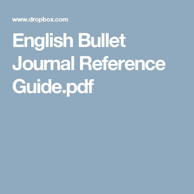English Bullet Journal Reference Guide.pdf