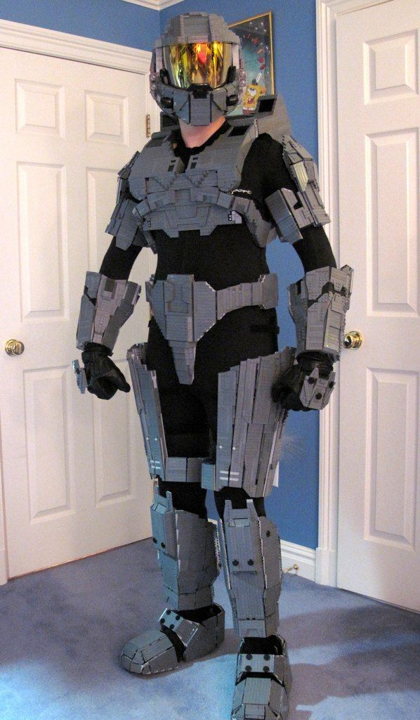 This is just awesome.  Armor built of Legos.  Must show the boy