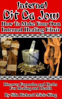 "Internal Dit Da Jow book.  This book reveals how to make Internal Dit Da Jow, which is different from External Dit Da Jow.  This is martial arts healing knowledge called ""dit da ke"" or fall and hit medicine.  How to heal injuries, bruises, strains, trauma, etc. The kind of thing that can happen to you in the classroom or any number of areas of life. Knowledge is power and this book imparts knowledge on this subject.  Available in ebook for convenient quick download or as a bound workbook!"