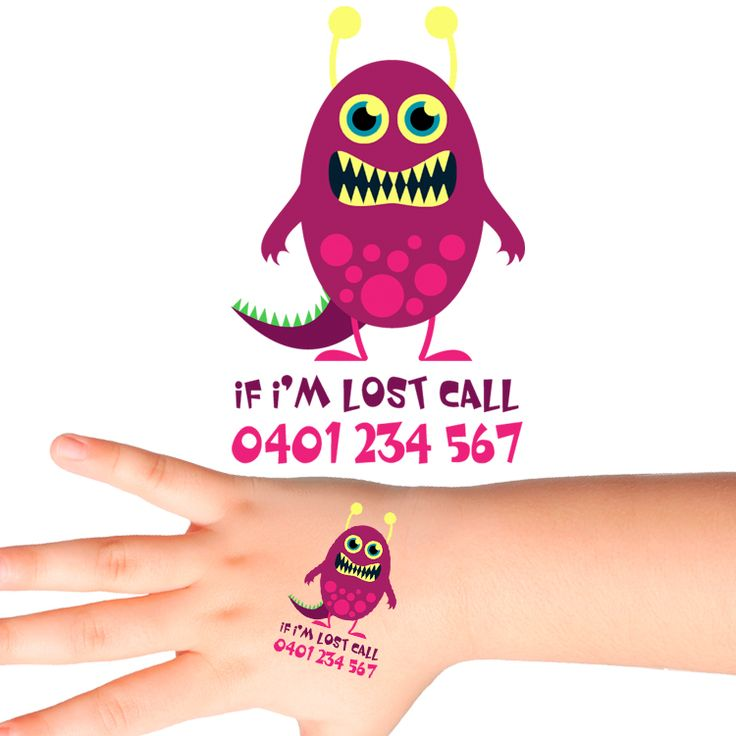 Monster Personalised Safety Tattoos #503 (16 pack)