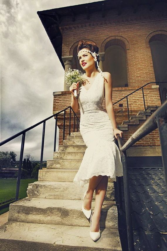 20s wedding dress Charleston wedding Flapper wedding dress