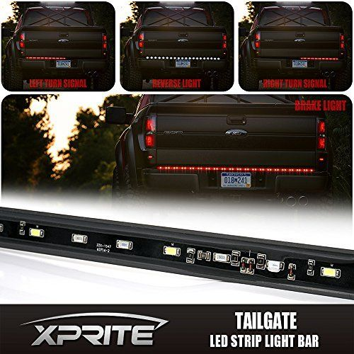 "60"" Auto Tailgate LED Light Bar Red White Reverse Stop Running Brake Turn Signal Lightwith 60pcs Red &30pcs white LED"