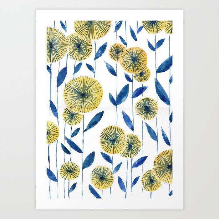 The Big Yellow Daisy // Sarah Jager Design #floralprint #yellowprint #florals