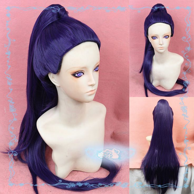 Overwatch Widowmaker Dark Purple Color Long Synthetic Hair ANime Cosplay Wigs #Unbranded