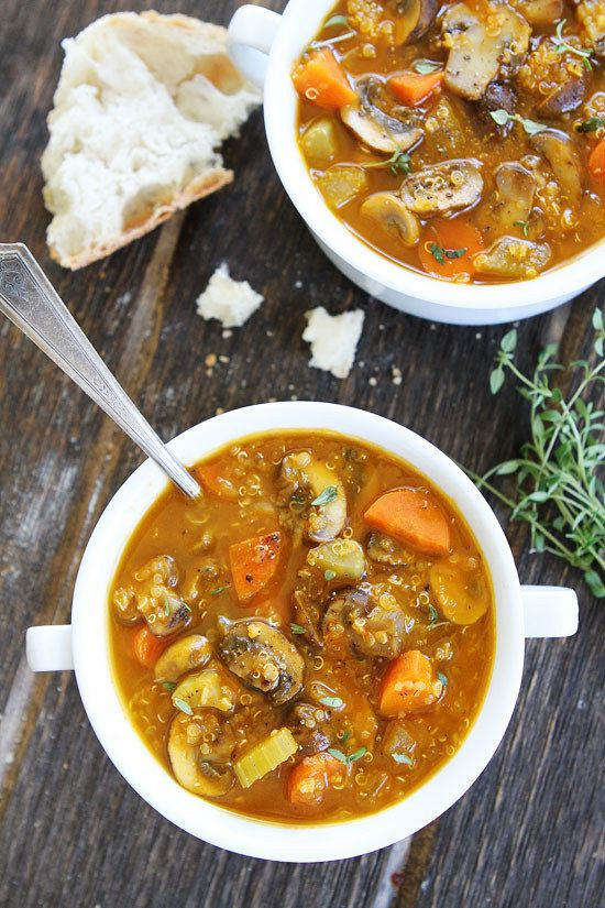 Mushroom Quinoa Soup | 21 Healthy Fall Soups To Make Ahead And Freeze