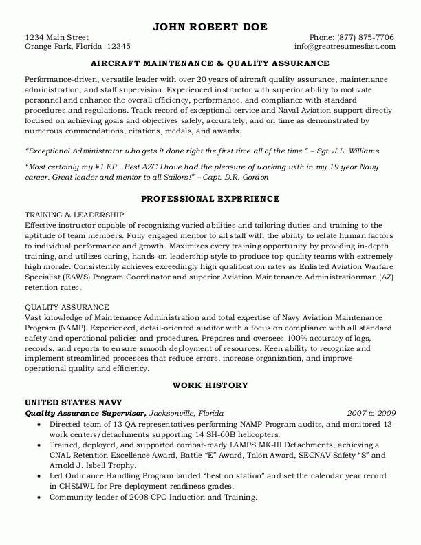 Sample Federal Resume