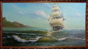 Парусник - Морской пейзаж <- Картины маслом <- Картины - Каталог   Универсальный интернет-магазин подарков и сувениров