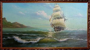Парусник - Морской пейзаж <- Картины маслом <- Картины - Каталог | Универсальный интернет-магазин подарков и сувениров