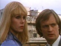 Sapphire and steel. Joanna Lumley and David McCallum. Great show! Joanna Lumley was my favourite female on telly when I was a kid and I loved David McCallum from the covers of the Man from Uncle books I used to read even though I never actually saw an episode until I was in my 20's!