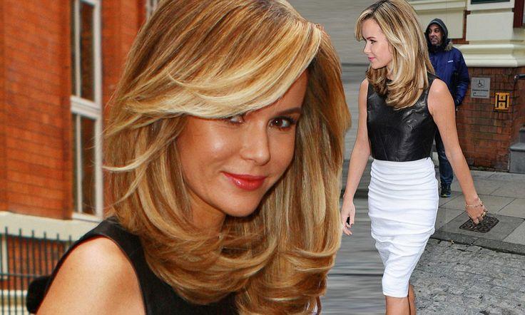 Amanda Holden heads to BGT auditions with voluminous golden hair