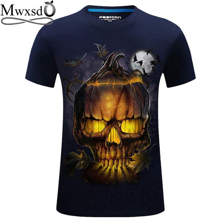 Mwxsd brand Men 3d printed T Shirt skull printing mens summer O neck T-shirts male social tees top t shirts plus size #Affiliate