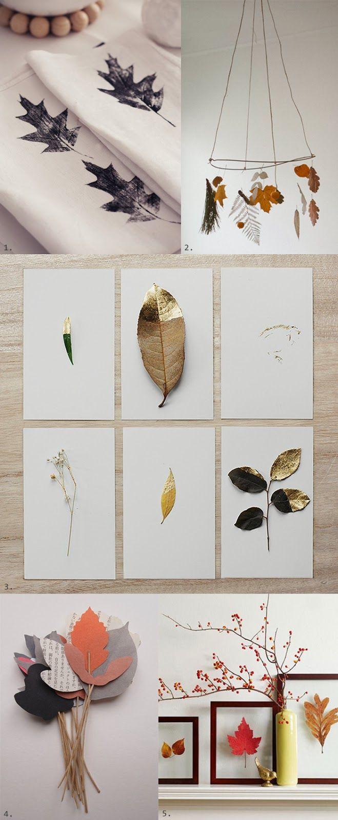 DIY autumn leaves #diy #autumn #fall