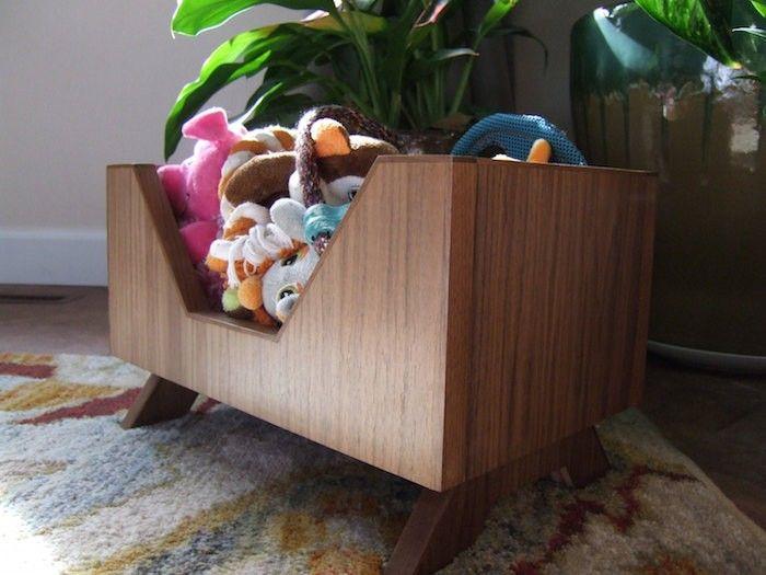 Mid Century Modern Dog Toy Box Modern Toy Boxes Dog Toy Box