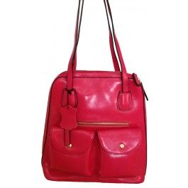 Susanna Tino -- Women's Pink 2 in 1 Backpack/Shoulder bag  | Free Shipping| Fabhere.com.au