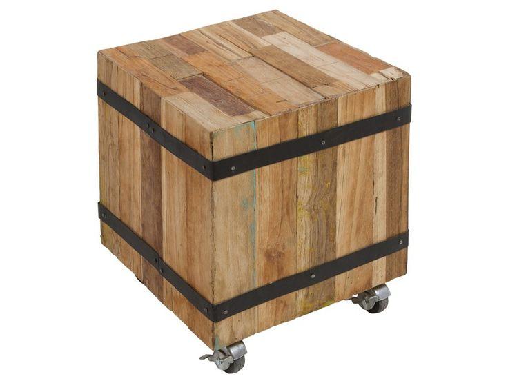 Taburete de madera con ruedas sillas de comedor pinterest for Comedor con taburetes