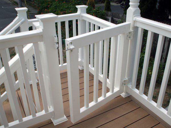 Top 50 Best Deck Gate Ideas Backyard Designs Deck Gate Vinyl Deck Railing Decks Backyard