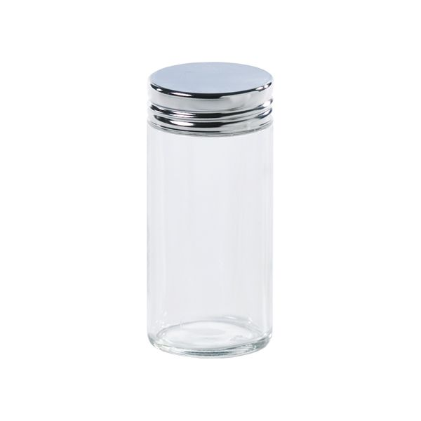 3 oz. Glass Spice Bottle Chrome Lid from The Container Store.... 1.99 ea