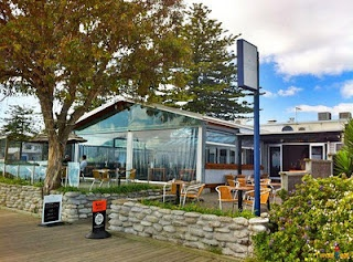 The only beachfront resturant in Hawke's Bay. Like a bach, except someone else cooks.