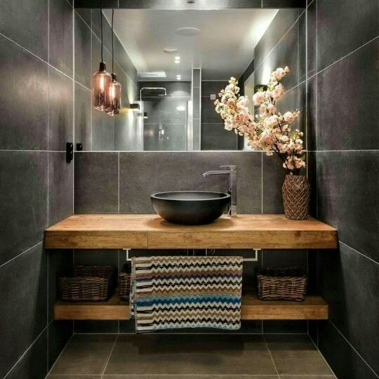 Loving timber in the bathroom