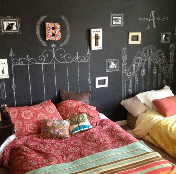 """Tafelfarbe an der Wand lässt Raum für täglich neue """"Wohnideen"""""""