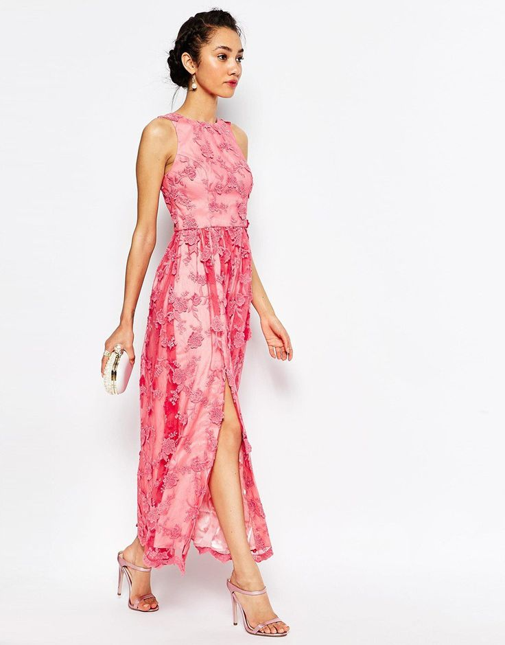 Pink wedding guest outfit by chi chi london