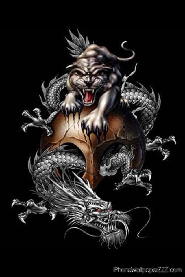 China dragon and tiger