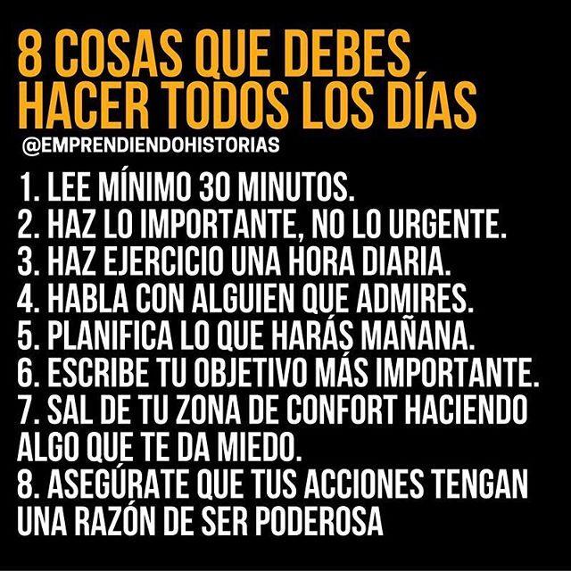 8 cosas que debes hacer todos los días para mejorar.