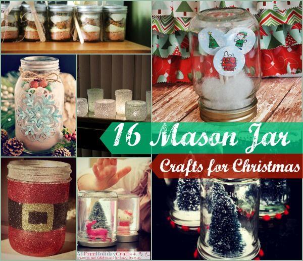 Mason Jar Christmas Craft Ideas Part - 46: 35+ Mason Jar Crafts For Christmas