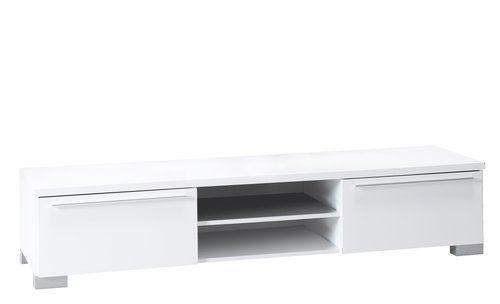 TV stolík AAKIRKEBY 2 zásuvky biela lesk | JYSK 160euro