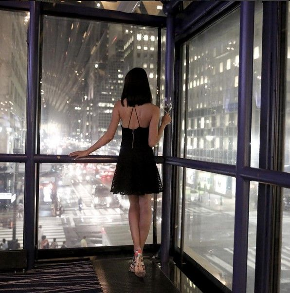 Bright lights, sparkling city at Grand Hyatt New York. Photo of fashion blogger @melissackoh by @dellabass during NYFW.