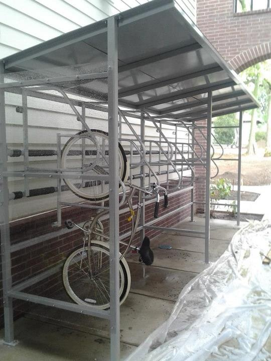 Covered Bike Shelters : Images about bike shelters on pinterest