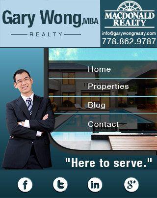 Custom Real Estate mobile website for realtor Gary Wong.