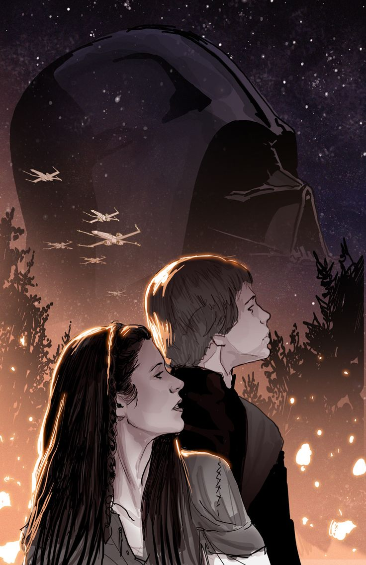 unused sketch SW: Shattered Empire #1 variant cover - pualrenaud