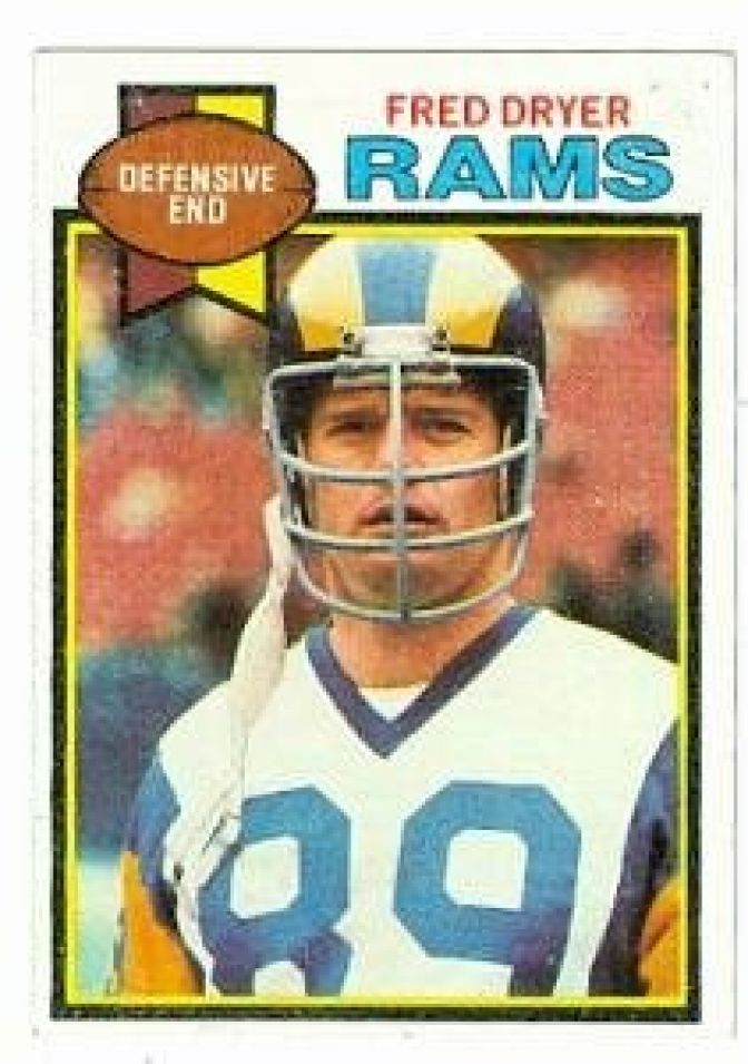 Fred Dryer football card (Los Angeles Rams) 1979 Topps #453 at Amazon ...