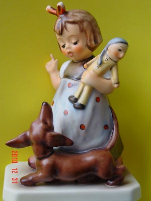 "HUMMEL FIGURIN 339 ""Behave"" TM7 with DACHSHUND DOG - MINT CONDITION"