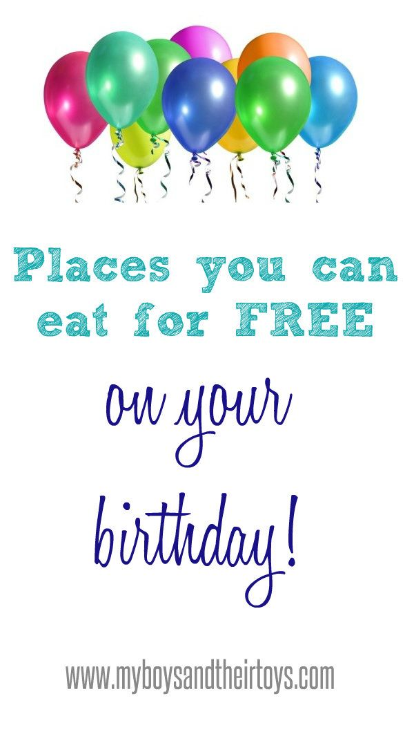 Want to know all of the best places to score free birthday meals? Click the image for a full list!