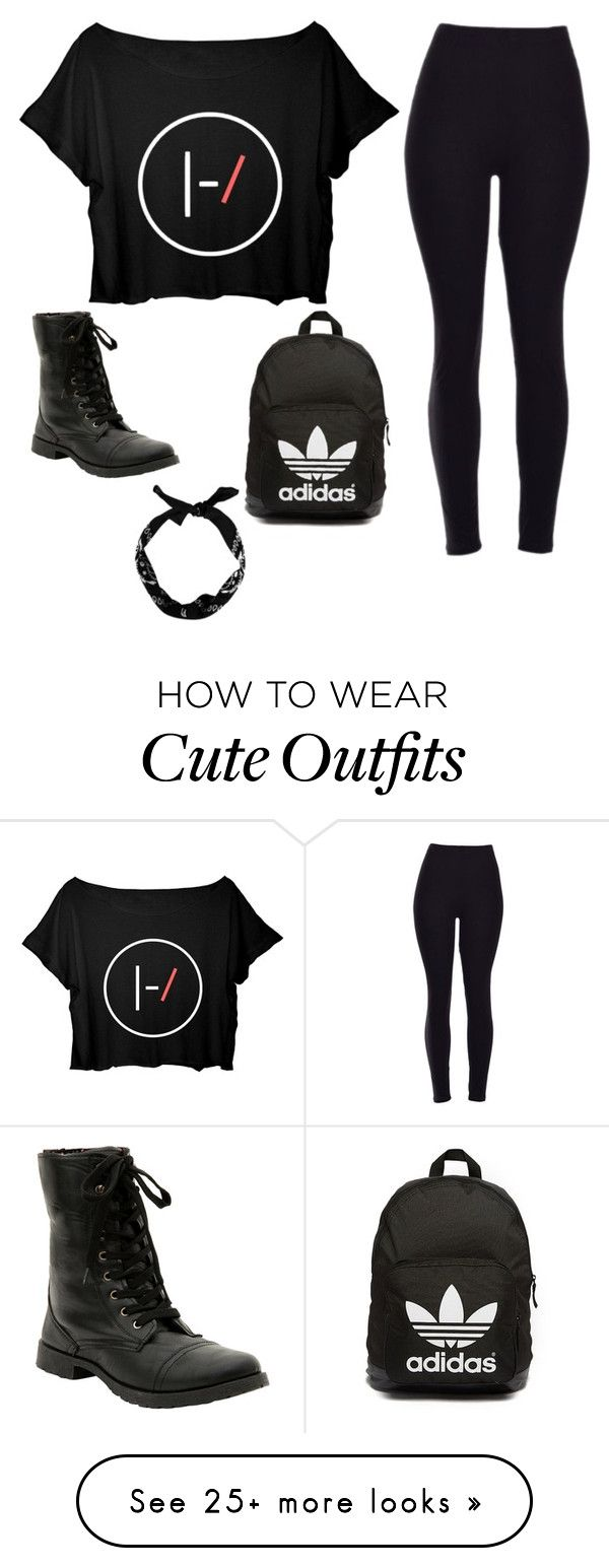 """""""Cute black casual outfit with accessories"""" by achanthachack-1 on Polyvore featuring adidas Originals, women's clothing, women, female, woman, misses and juniors"""