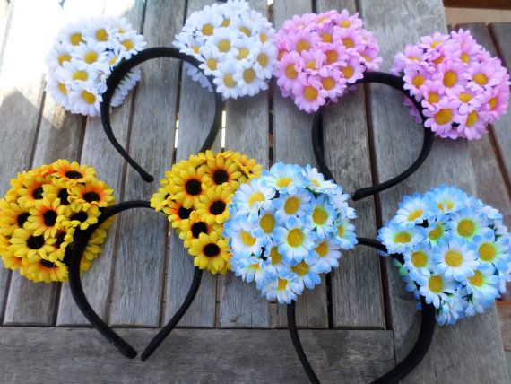 Floral Mouse Ears by bananapies on Etsy