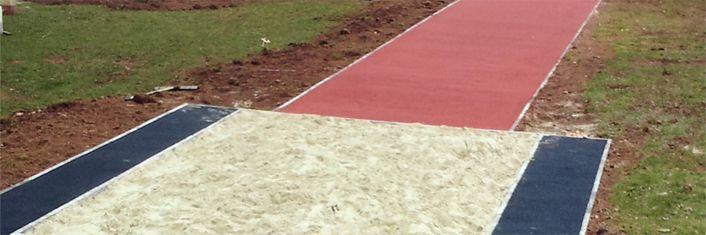 Long Jump Run Up Surfacing in South End   Runway Surfaces in South End : Long Jump Runways